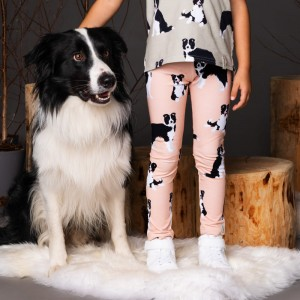 Border Collie leggins,peach
